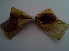Sunflowers bow clip by PeaceLoveAndRibbon on Etsy, $1.15