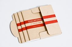 Calepino packaging for notebooks