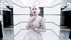 Lady in white: Lady Gaga models four eye-catching ensembles in just 30 seconds as The Countess in the latest teaser for the upcoming American Horror Story: Hotel