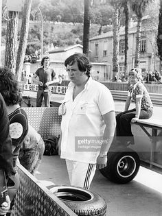 Lord Alexander Hesketh at the Monaco Grand Prix, 1973. Pictured in the pits at…