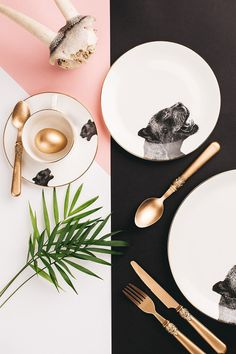P A N T H E R Fine Bone China 10 Dinner Plate by abi overland