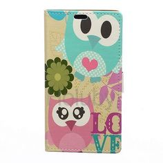 Wallet Magnetic Flip Stand PC + PU Leather Case for iPhone 6 Plus 6S Plus Two Owls