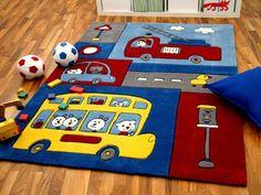 Lifestyle Kinderteppich Feuerwehr in 3 Größen !!! Sofort Lieferbar !!!