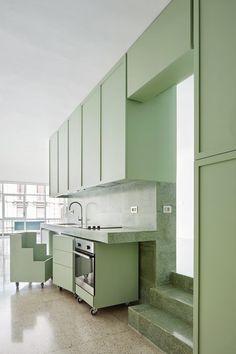 Arquitectura-G, José Hevia · Refurbishment of a flat on the Casanova Street