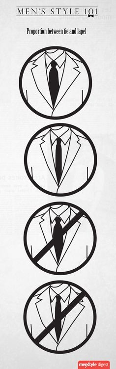 How to pair your tie with the jacket's lapel