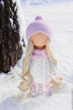 Купить Нежность - бледно-розовый, нежно-розовый, куколка, кукла ручной работы, кукла текстильная