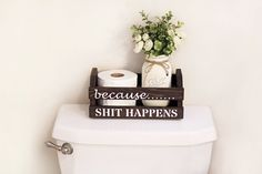 Funny Bathroom Decor, Rustic Bathroom Decor, Toilet Paper Holder, Bathroom Mason Jar Decor, Bathroom Humor, Funny Gifts, Bathroom Signs