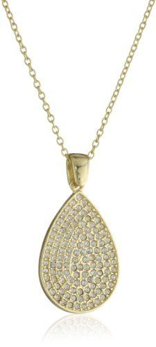 Flying Lizard Designs Gold Chain Necklace with Cubic Zirconia Tear Drop Pendant Necklace Flying Lizard Designs. $45.00. Items that are handmade may vary in size, shape and color. Made in China