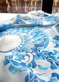 Hand painted silk scarf Wedding by Luiza Malinowska MinkuLuL Etsy: https://www.etsy.com/listing/208004208/silk-scarf-wedding-scarf-hand-painted?ref=listing-shop-header-1 #Minkulul #silkscarf