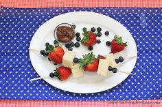 Red, White and Blue Dessert Kabobs