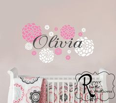 Swirly Custom Name Decal - 36  wide size - Baby Name Wall Decal - Nursery Decor - Personalized Name | Babies Nursery and Nurseries baby  sc 1 st  Pinterest & Swirly Custom Name Decal - 36
