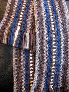 #haken, gratis patroon (Engels), sjaal, mannen, heren, jongens, #crochet, free pattern, scarf, men