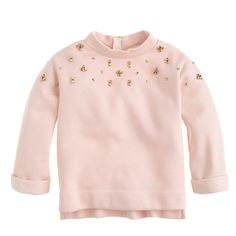 Girls' embellished back-zip sweatshirt : sweatshirts | J.Crew