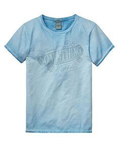 T-shirt met speciale wash - Scotch
