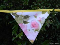 Spring Garden Bunting Flag Garland with Vintage by RustIsVogue, $20.00