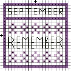 Free Cross Stitch Pattern - September Remember MiniSampler - Right click and save the patterns from here on pinterest and then follow the link for the pattern key and instructions.