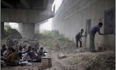 School Under Bridge in New Delhi Offers Free Education To India's Poor Children.this makes me sad