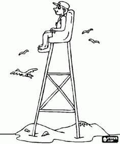coloring pages of lifeguard stand - photo#11