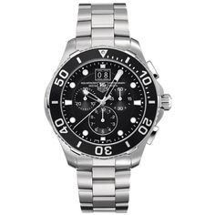 TAG Heuer Aquaracer men's chronograph stainless watch - CAN1010.BA0821