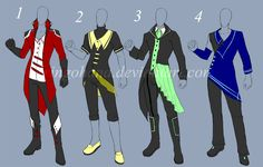 Auction: Male Clothes Design(OPEN 48 HOURS) by Kyone-Kuaci.deviantart.com on @deviantART