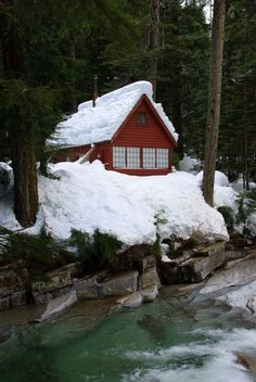 Backyard Sandbox Ideas for Kids: The Best Outdoor Sandboxes - Othence Snow Cabin, Winter Cabin, Cozy Cabin, Little Cabin, Little Houses, Cabana, Ideas De Cabina, Cabin In The Woods, Cabins And Cottages