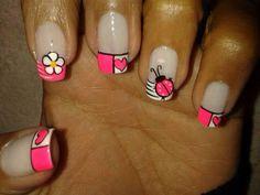 De internet Beauty Spa, Beauty Nails, Love Nails, Fun Nails, French Nail Art, Acrylic Gel, Nail Envy, Cute Nail Art, Beautiful Nail Designs