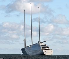 It was virtually impossible to miss this mammoth sailing superyacht as it took to the sea for a test run - thanks in large part to its three 300ft masts which stand taller than Big Ben's tower