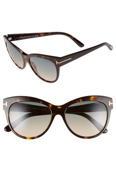 Tom Ford 'Lily' 56mm Cat Eye Sunglasses available at #Nordstrom