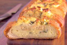 Lemon and Basil Eggs over Foccacia Recipe | Giada De Laurentiis | Food Network