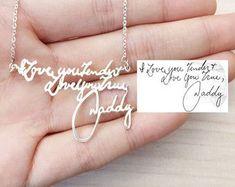SALE 20% Handwriting Necklace signature by MackenzieTreasury