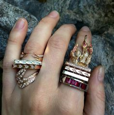 Follow the Fire in Your Heart Your Heart, Statement Rings, Class Ring, Fire, Jewelry, Jewlery, Bijoux, Schmuck, Jewerly