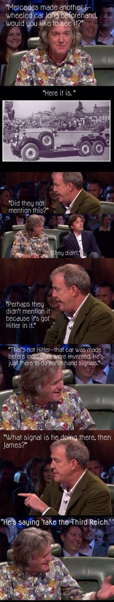 Might not be quite appropriate, but funny nonetheless. Love Top Gear!
