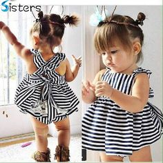 2016 Summer Vestidos Baby Girl Dresses Princess Children Dress Stripe Baby  Clothing Kids Girl Dress Brand 59b4b40e2