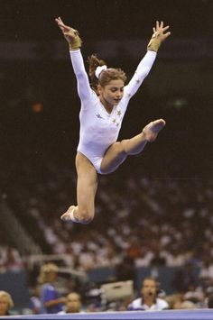 Dominique Moceanu (United States) on floor at the 1996 Atlanta Olympics