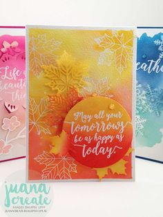 Crazy Crafters Blog Hop with special guest Holly Stene. Colorful Seasons Watercolors. Juana Create.