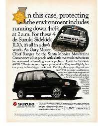 Ivanhoe162 On Ecrater The Great Ebay Alternative 1992 Vintage Magazine Print Ad Suzuki Sidekick In 2020 Suzuki Print Ads Vintage Magazine