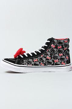 The Hello Kitty Sk8 Hi Slim Sneaker in Black & White