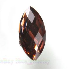 200x 24289 New Brown Marquise Resin Rhinestone Flatback Stick-on Charms