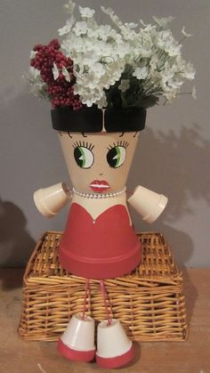 Planter Pot Person People Garden Friend BETTY by GARDENFRIENDSNJ, $38.00