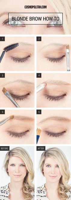 Maquillaje - makeup - Eyebrow Makeup For Blonde Girls - How to Fill in Blonde Eyebrows - Cosmopolitan