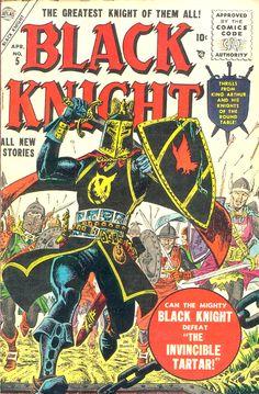 Black Knight #5 April 1956. Cover Artist: Joe Maneely. #comic #cover #art