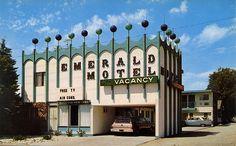 Emerald Motel: 1960s postcard