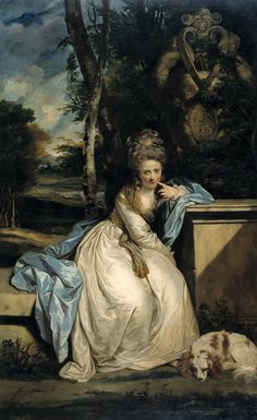 1777-1778 The Honourable Miss Monckton by Sir Joshua Reynolds