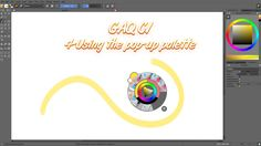 Krita's pop up palette and color picker
