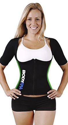 Body SPA Light Neoprene Vest with Sleeves Exercise Gym Sauna Shaper Weight Loss 13830 *** Check out the image by visiting the link.
