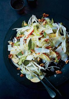 Celery, Fennel and Apple Salad with Pecorino and Walnuts by foodandwine: Crisp and refreshing. #Salad #Celery #Fennel #Apple #Healthy