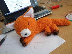 Fox Sock Plushie  •  Free tutorial with pictures on how to make a fox plushie in 8 steps