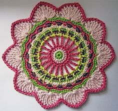 The pattern includes two colourways of this gorgeous floral motif. Worked in Rowan Cotton Glace, it's a great way to practice your crochet techniques.