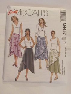 McCall Easy Sew Pattern 4457 Flared Skirt 12 14 16 18 #McCallsPattern #SewingPattern