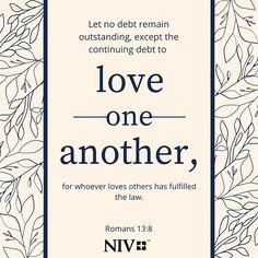 NIV Verse of the Day: Romans 13:8